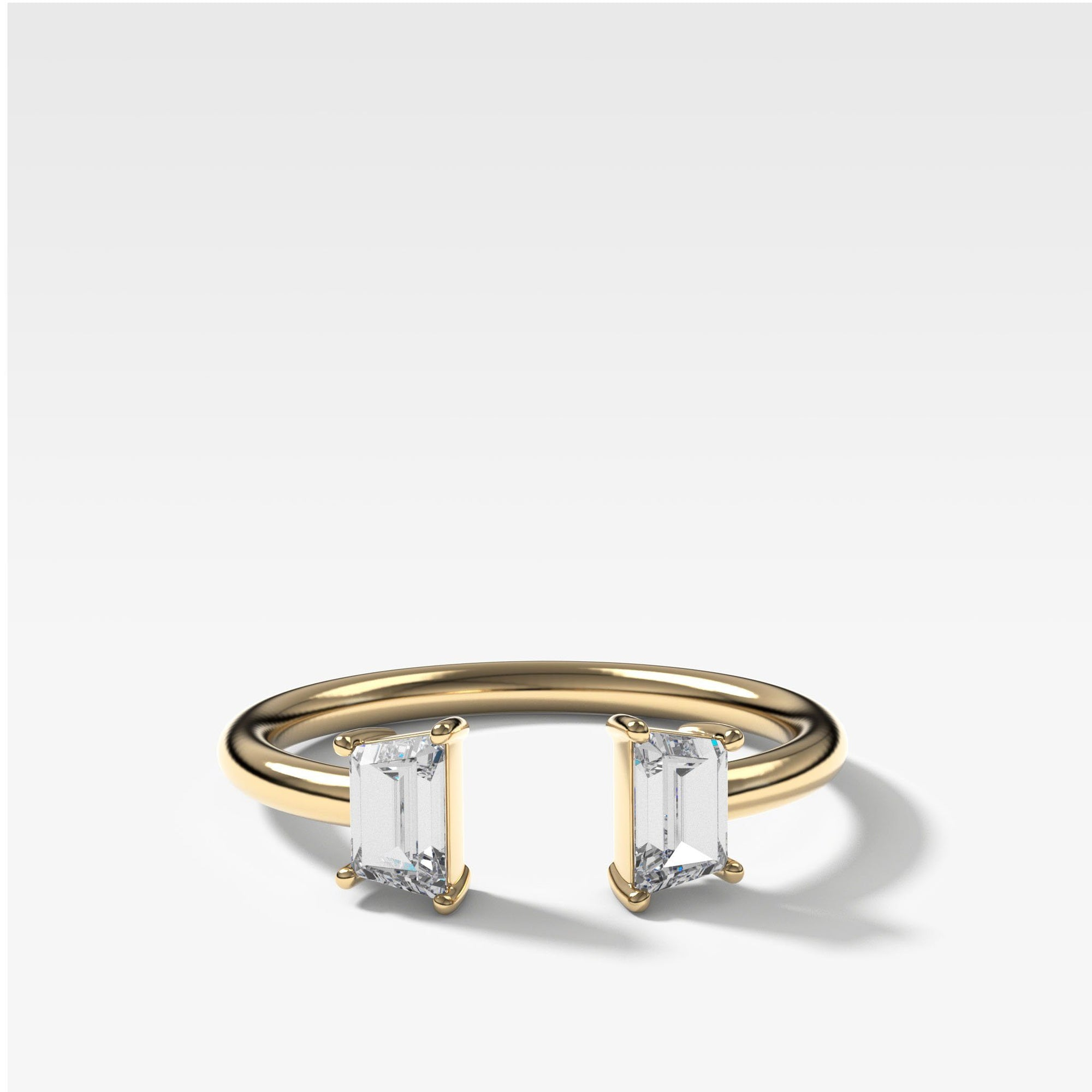 Twin Traps Diamond Finger Cuff in Yellow Gold by Good Stone