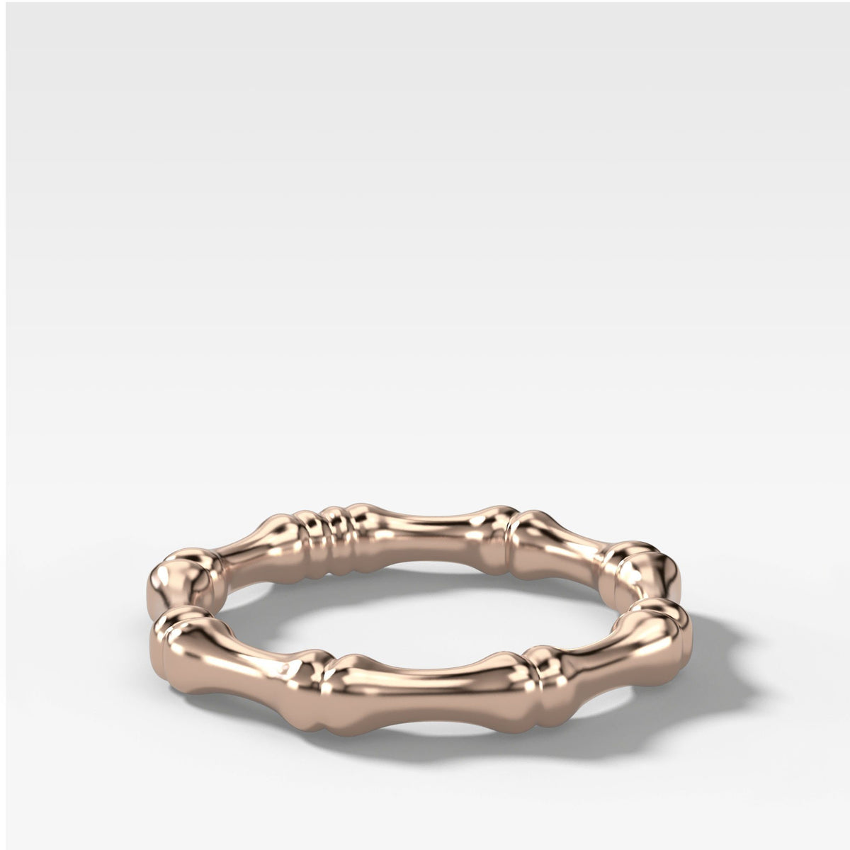 Bare Bones Stacker (3mm) Band in Rose Gold by Good Stone