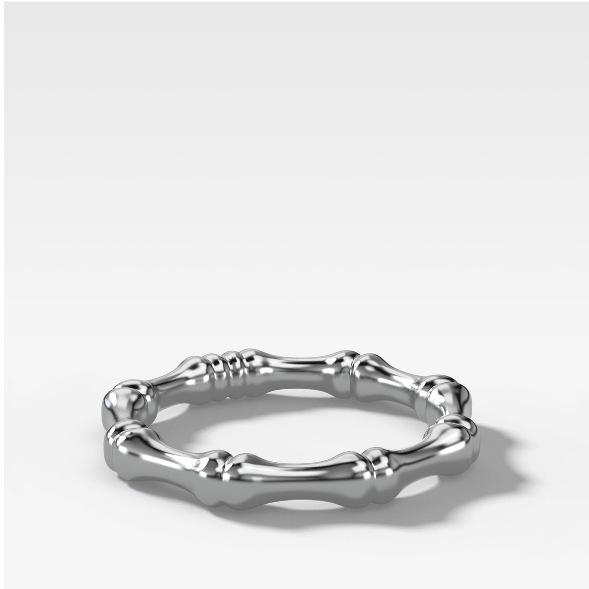 Bare Bones Stacker (3mm) Band in White Gold by Good Stone