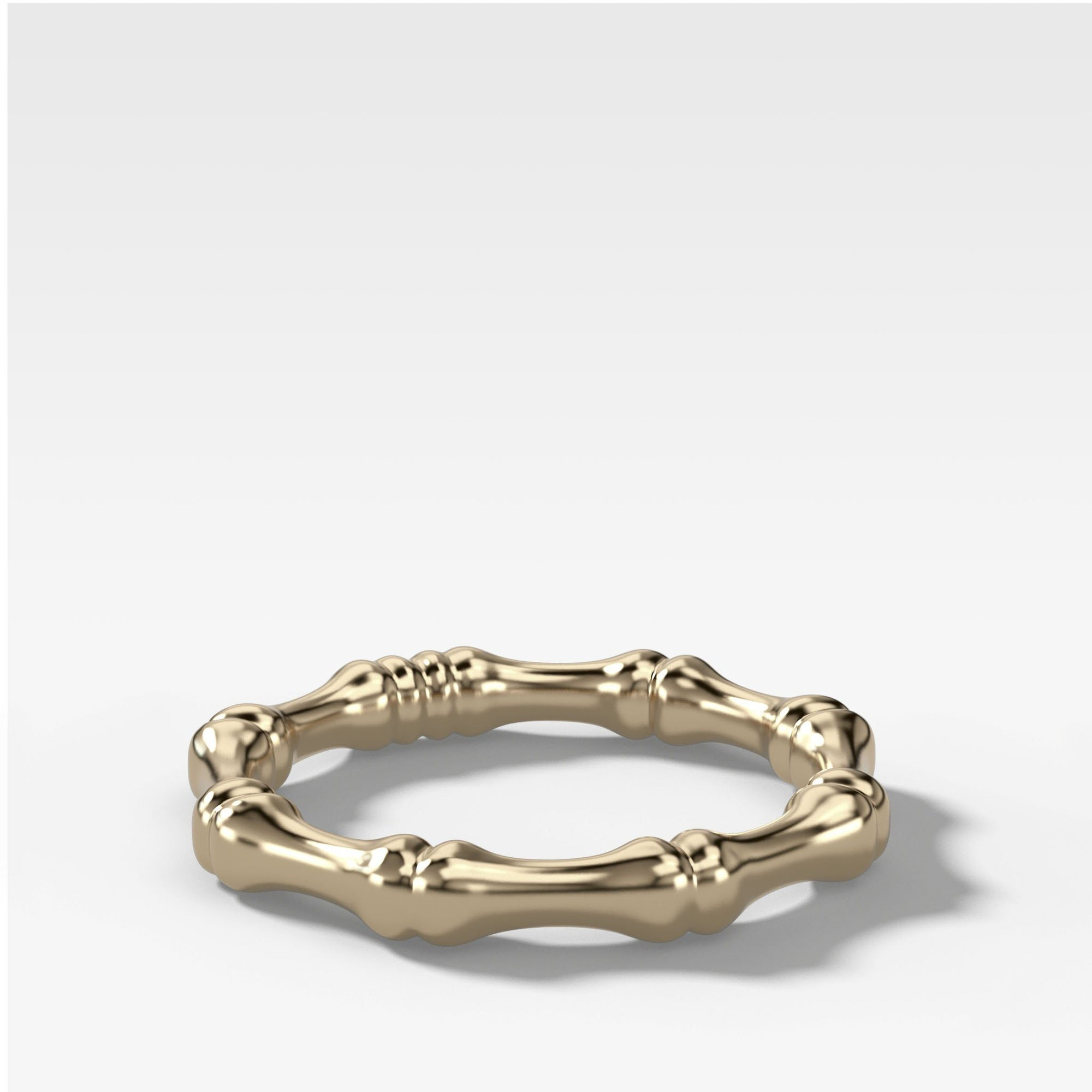 Bare Bones Stacker (3mm) Band in Yellow Gold by Good Stone