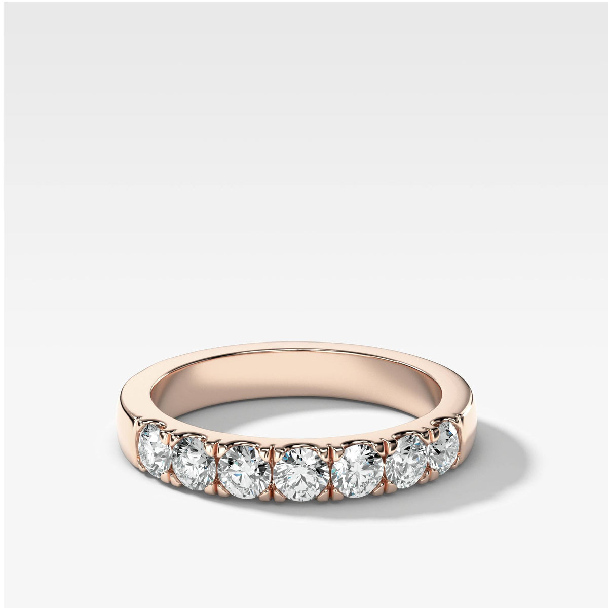 Jumbo Pave Diamond Wedding Band in Rose Gold by Good Stone