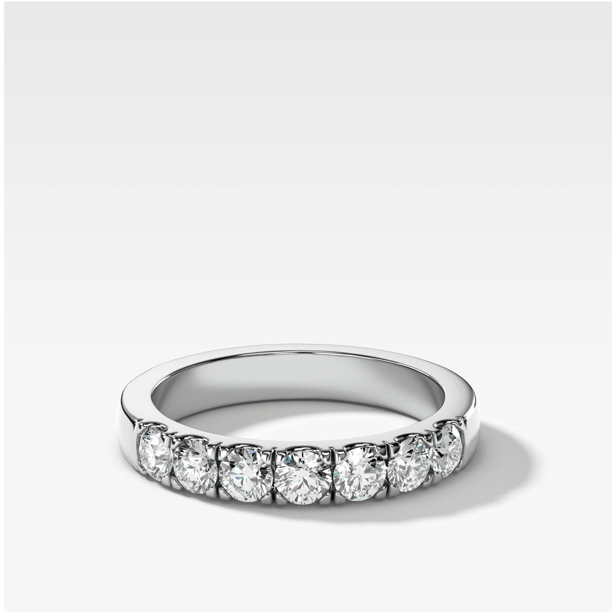 Jumbo Pave Diamond Wedding Band in White Gold by Good Stone
