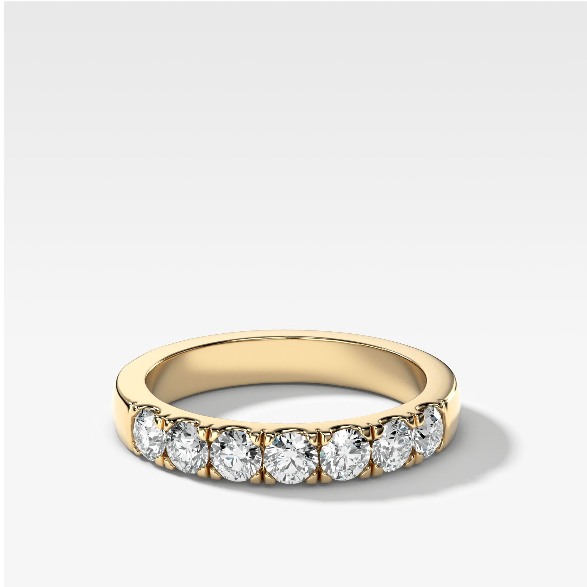 Jumbo Pave Diamond Wedding Band in Yellow Gold by Good Stone