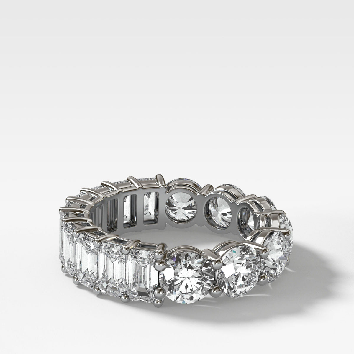 Reversible Diamond Eternity band in White Gold by Good Stone