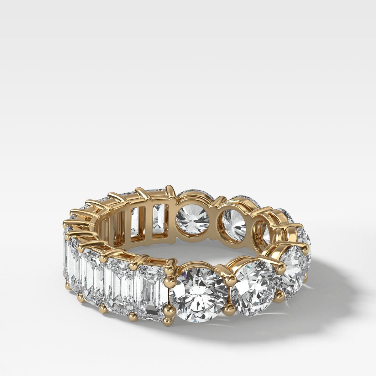 Reversible Diamond Eternity band in Yellow Gold by Good Stone