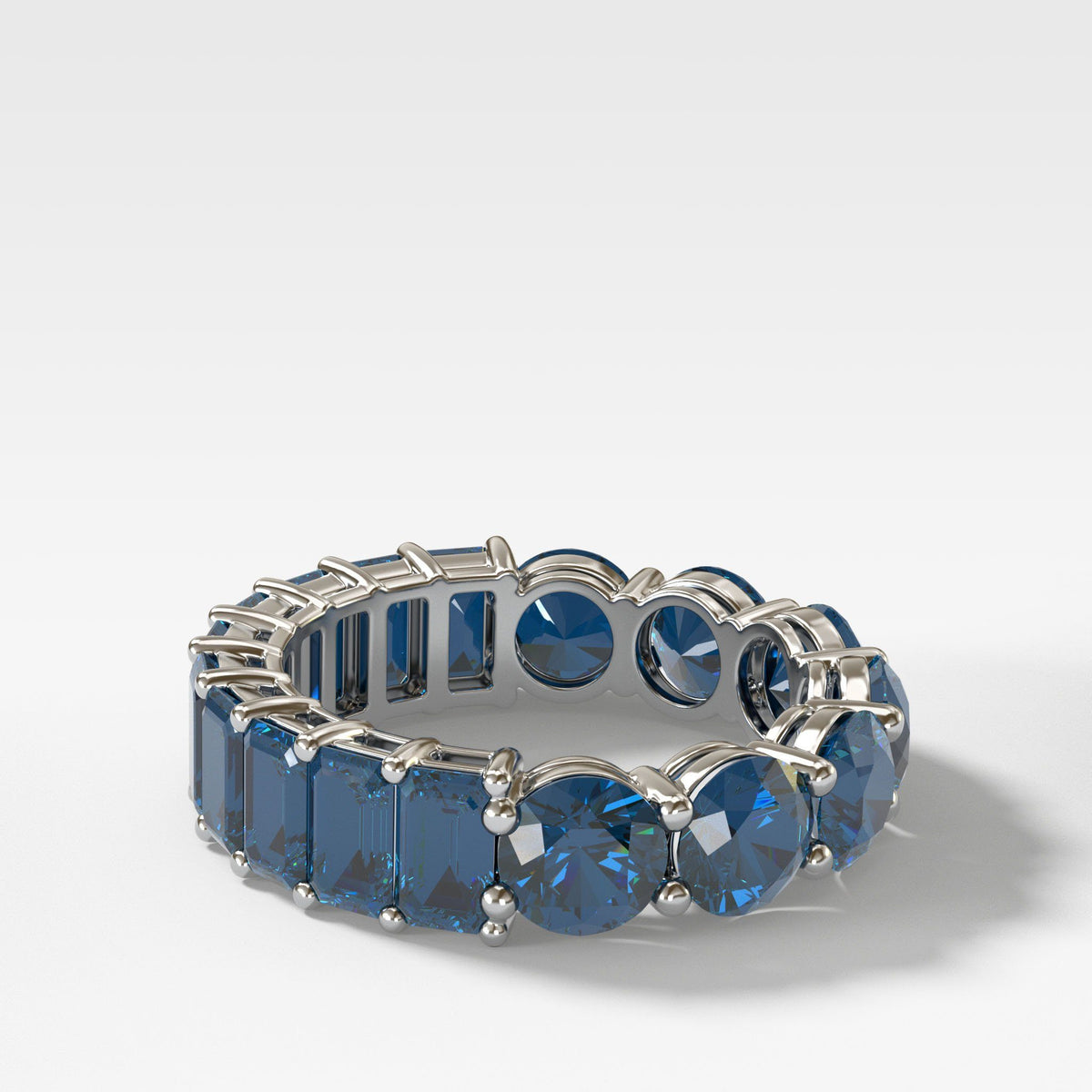 Reversible Sapphire Eternity Band In White Gold By Good Stone