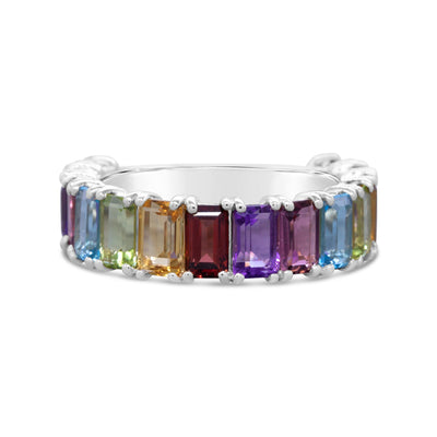 Emerald Cut Rainbow Gemstone Stacker