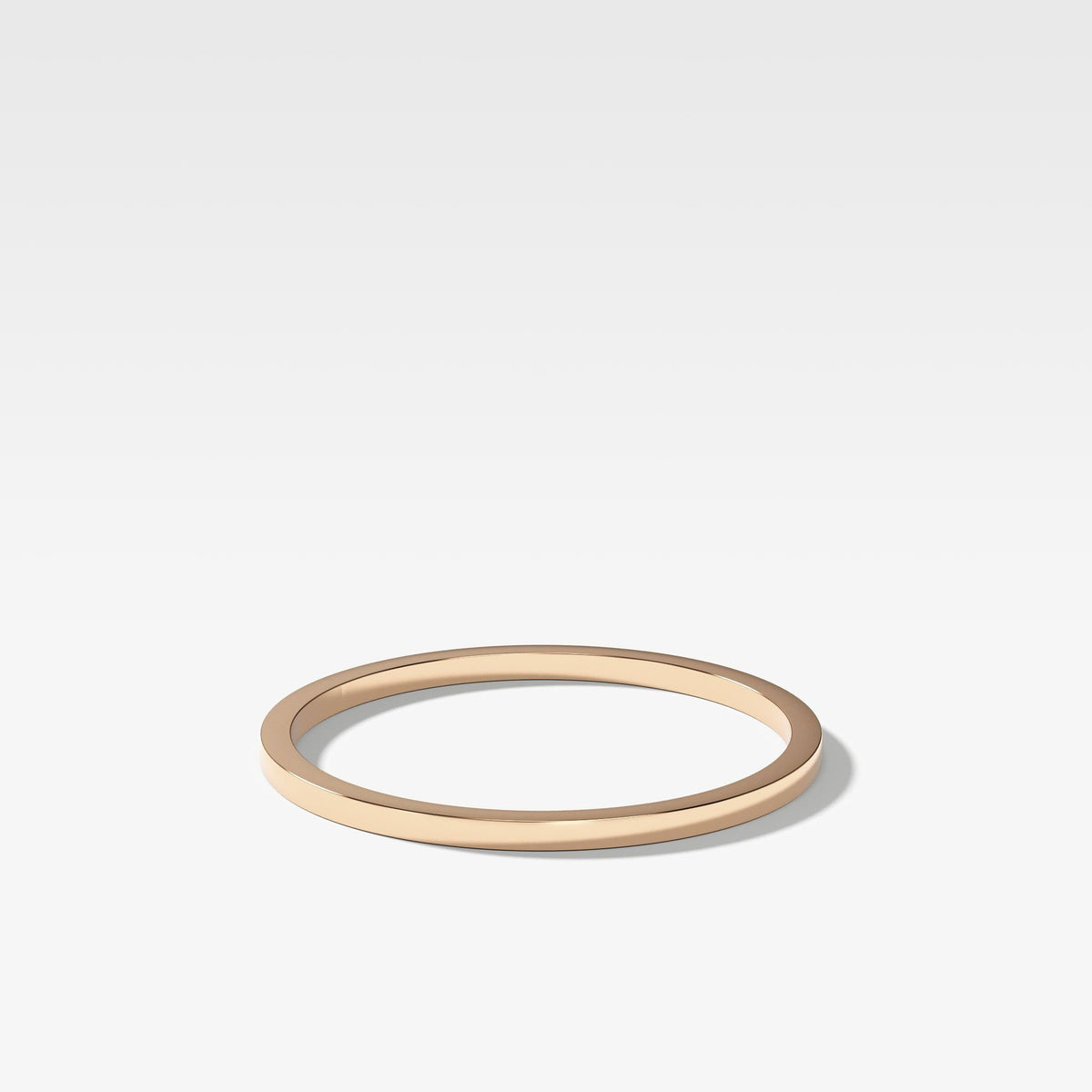 Finest Band (1Mm) In Rose Gold By Good Stone