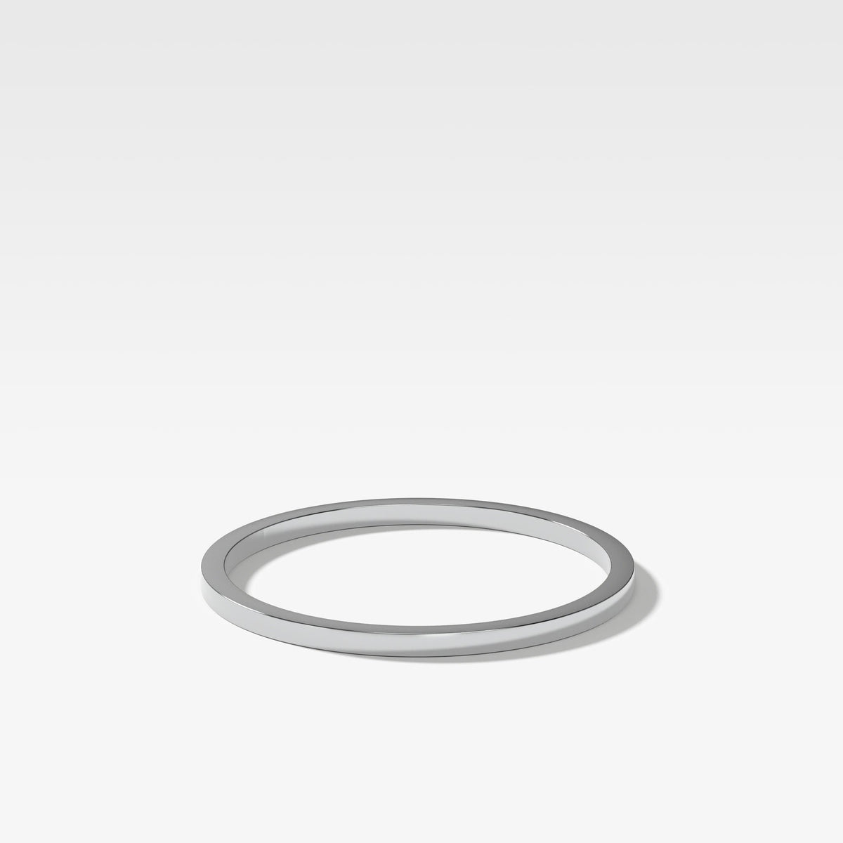 Finest Band (1Mm) In White Gold By Good Stone