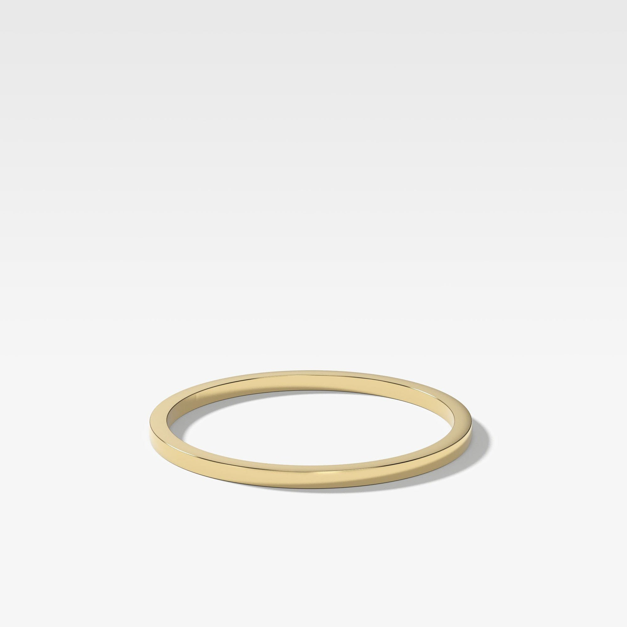 Finest Band (1Mm) In Yellow Gold By Good Stone
