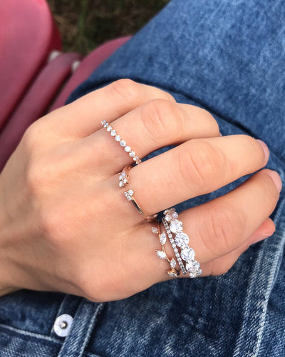 Round Constellation Eternity Band