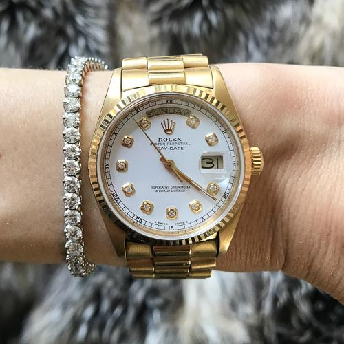 '88 Presidential Rolex Day-Date 18k Yellow Gold Watch Good Stone Inc