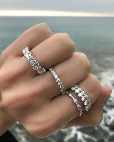 Oval Constellation Eternity Band