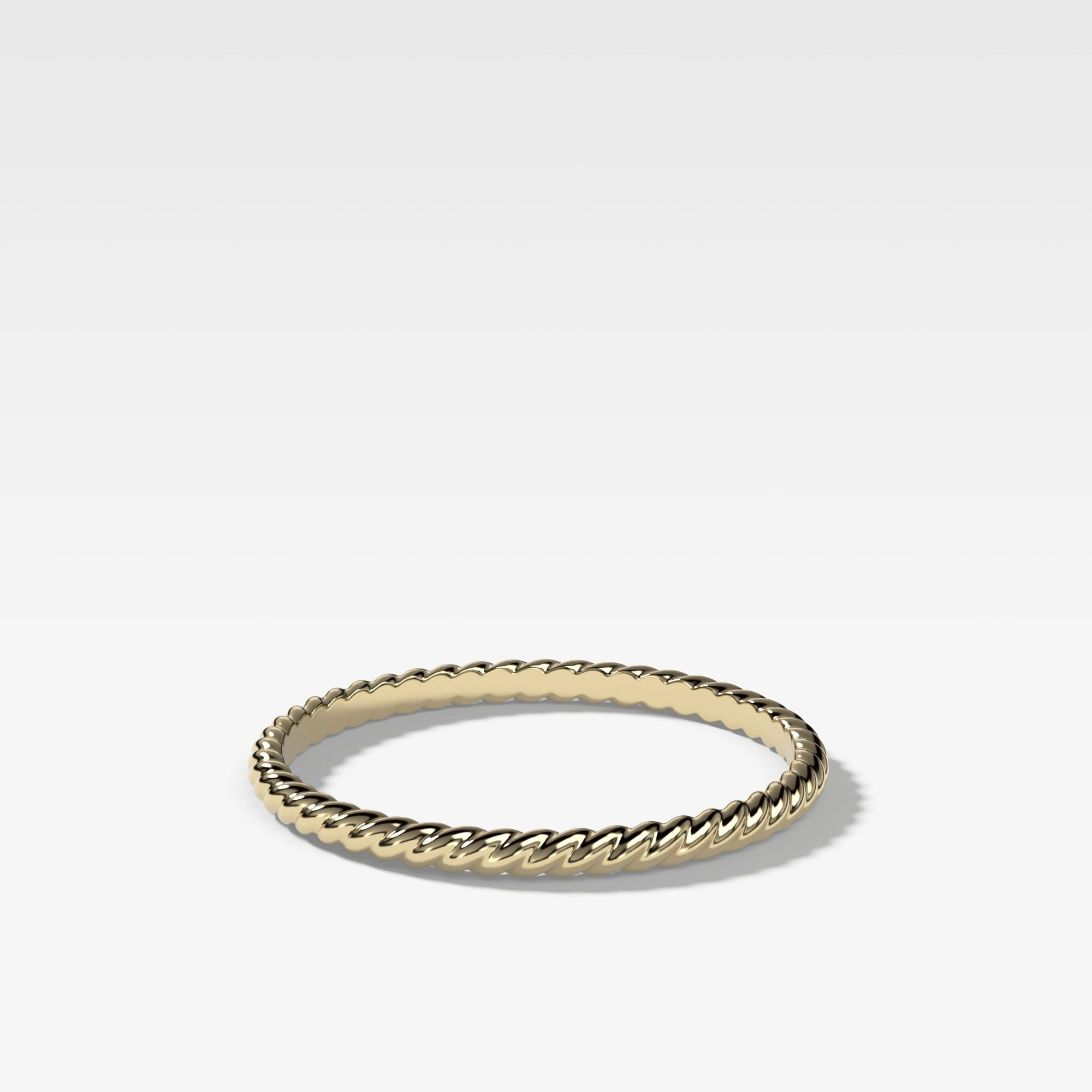 Rope Stacker (1.5Mm) In Yellow Gold By Good Stone
