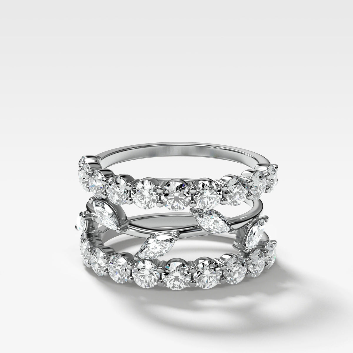 Good Stack no. 1 in White Gold by Good Stone