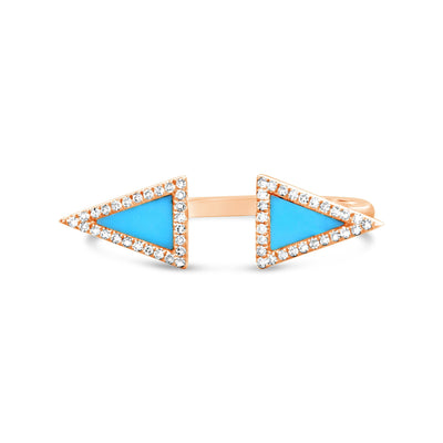 Turquoise Pavé Finger Cuff