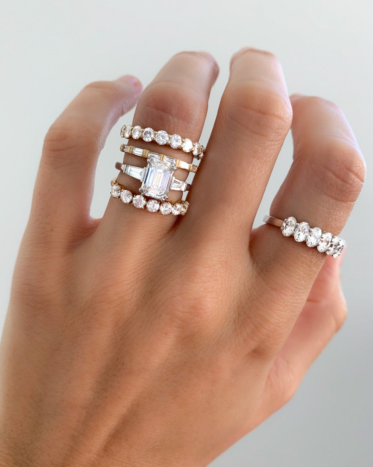 Dainty Baguette Stacker In By Good Stone
