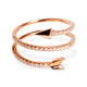 18KT ROSE GOLD DIAMOND ARROW WRAP RING