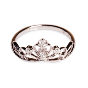 18KT DIAMOND CROWN RING