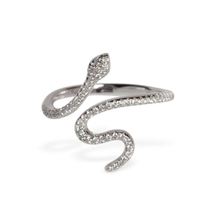 18KT DIAMOND SNAKE RING