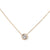 18K BEZEL-SET .95CT DIAMOND NECKLACE, MILGRAIN EDGE