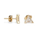 18KT DIAMOND TRILLION DIAMOND STUD EARRINGS