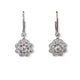 14KT GOLD & DIAMOND FLOWER DANGLE EARRINGS