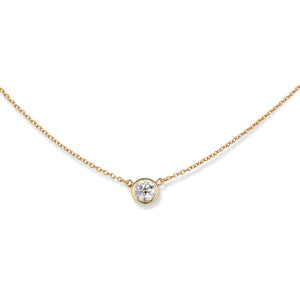TIFFANY ELSA PERETTI SOLITAIRE DIAMOND NECKLACE