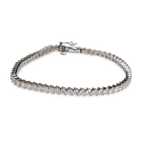 14KT WHITE GOLD STRAIGHT LINE TENNIS BRACELET