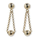 VINTAGE ITALIAN YELLOW GOLD  BALL & CHAIN EARRINGS
