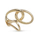 18KTY YELLOW GOLD TIFFANY INTERLOCKING LOOP EARRINGS