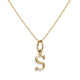"VINTAGE 14KT YELLOW GOLD ""S"" CHARM"
