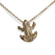 VINTAGE 14KT YELLOW GOLD FROG CHARM