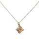 18KT TIFFANY ATLAS CUBE PENDANT & NECKLACE