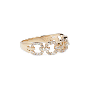 14KT DIAMOND LINK RINGS