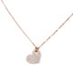14KT ROSE GOLD & DIAMOND HEART NECKLACE