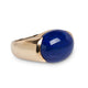 VINTAGE LAPIS & YELLOW GOLD RING