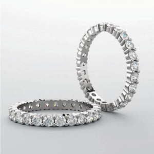 2CT PLATINUM & DIAMOND ETERNITY BAND