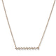 14KT YELLOW GOLD & BAGUETTE DIAMOND BAR NECKLACE