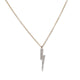 14KT YELLOW GOLD &  DIAMOND LIGHTENING BOLT NECKLACE