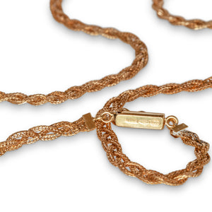 VINTAGE 18KT YELLOW GOLD WOVEN NECKLACE