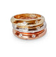 14KT & DIAMOND SCATTER BANDS