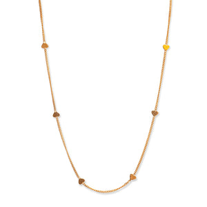 14KT YELLOW GOLD HEART CHAIN