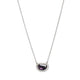 18KT HALO SET VIOLET SPINEL SLICE NECKLACE