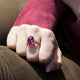 5.61CT PINK RUBELITE RING