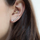 14KT YELLOW GOLD DIAMOND CLIMBER EARRINGS