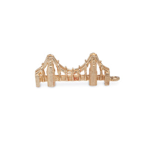 VINTAGE 14KT YELLOW GOLD BRIDGE CHARM