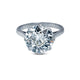 Vintage Engagement Ring with 3.95ct Old Mine Cut Round