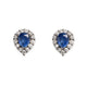 18KT SAPPHIRE & DIAMOND EARRINGS