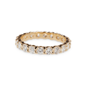 2CT YELLOW GOLD OR PLATINUM & DIAMOND ETERNITY BAND